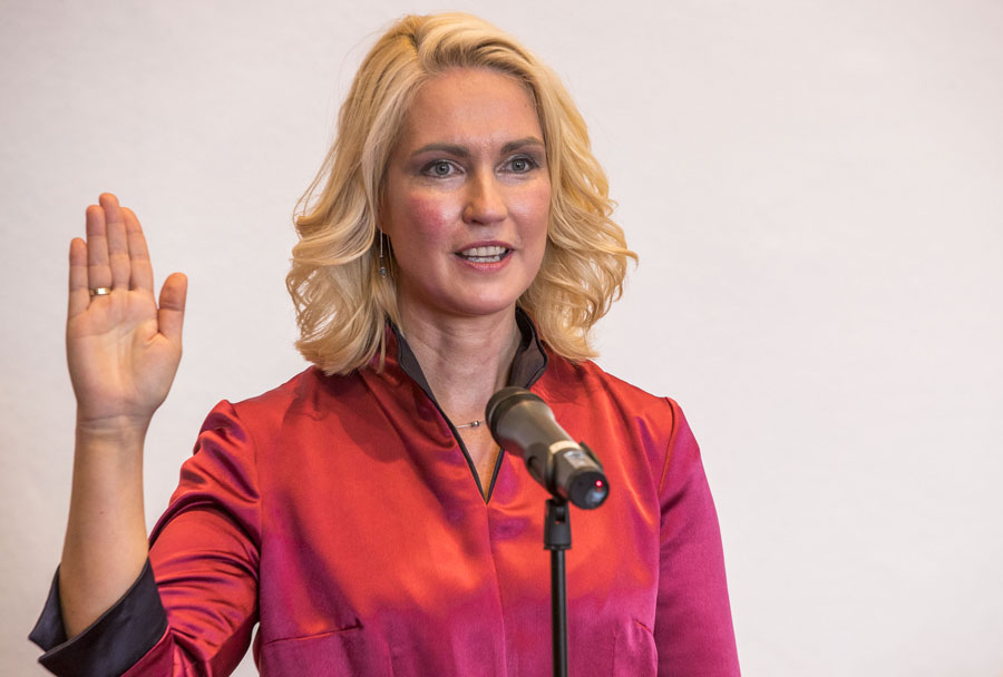 Minister-President Manuela Schwesig was sworn in in the State Parliament (Landtag) on 4 July 2017